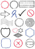 Stamp vector illustration set Stock Photo