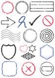 Stamp vector illustration set Stock Photo