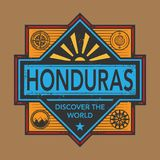 Stamp or vintage emblem with text Honduras, Discover the World. Vector illustration Royalty Free Stock Images