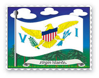 Stamp Virgin Islands Royalty Free Stock Photos