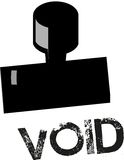 Stamp - Void stock images