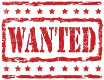 Stamp - Wanted Stock Images