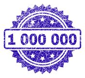 Scratched 1 000 000 Stamp Seal. 1 000 000 stamp watermark with corroded style. Blue vector rubber seal print of 1 000 000 title with scratched texture royalty free illustration