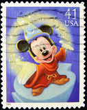 Stamp whit Mickey Mouse Royalty Free Stock Photography