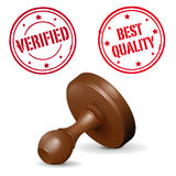 Stamp on white background - VERIFIED and BEST QUAL Stock Image