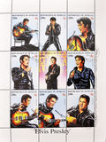 Stamp whith Elvis Presley Stock Photography