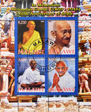 Stamp whith Ghandhi Stock Images