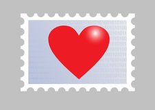 Stamp wiith a heart Royalty Free Stock Photography