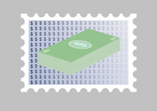 Stamp wiith money Stock Photography