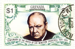 Stamp with Winston Churchill Stock Image