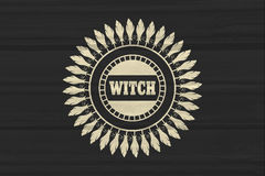 Stamp with witch text Royalty Free Stock Images