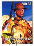Stamp With Clint Eastwood Stock Photo