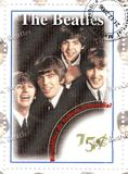 Stamp With The Beatles Royalty Free Stock Photography