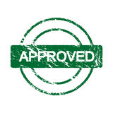 Stamp with the word approved inside (vector) Royalty Free Stock Image