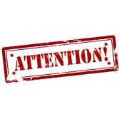 Attention. Stamp with word attention inside,  illustration Royalty Free Stock Photography
