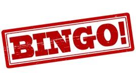 Bingo. Stamp with word bingo inside, illustration royalty free illustration
