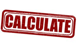 Calculate. Stamp with word calculate inside,  illustration Stock Photos