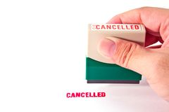 Stamp with the word Cancelled Stock Image