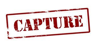 Capture. Stamp with word capture inside,  illustration Stock Image