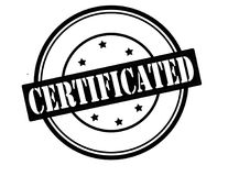 Certificated. Stamp with word certificated inside,  illustration Stock Photo