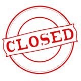Closed. Stamp with word closed inside,  illustration Stock Images