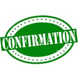 Confirmation. Stamp with word confirmation inside,  illustration Royalty Free Stock Image