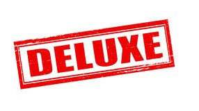Deluxe. Stamp with word deluxe inside, illustration stock images