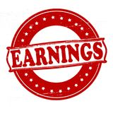 Earnings. Stamp with word earnings inside,  illustration Royalty Free Stock Photography