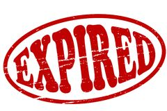 Expired. Stamp with word expired inside,  illustration Royalty Free Stock Images