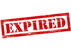 Expired. Stamp with word expired inside,  illustration Royalty Free Stock Photo