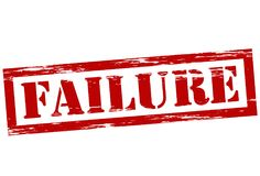 Failure. Stamp with word failure inside,  illustration Stock Images