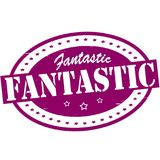 Fantastic. Stamp with word fantastic inside, illustration royalty free illustration