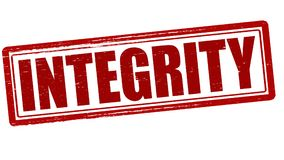 Integrity. Stamp with word integrity inside,  illustration Royalty Free Stock Photography