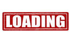 Loading. Stamp with word loading inside, illustration vector illustration