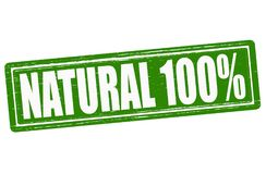 Natural. Stamp with word natural inside, illustration Royalty Free Stock Photo