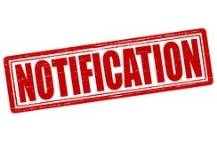 Notification. Stamp with word notification inside,  illustration Royalty Free Stock Images