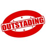 Outstanding. Stamp with word outstanding inside,  illustration Royalty Free Stock Photos
