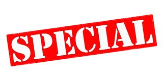 Special. Stamp with word special inside,  illustration Royalty Free Stock Photography