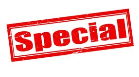 Special. Stamp with word special inside,  illustration Stock Image