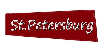 St, Petersburg. Stamp with word St, Petersburg inside, illustration Stock Photos