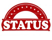Status. Stamp with word status inside,  illustration Royalty Free Stock Images