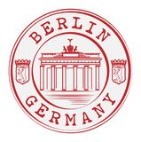 Stamp with words Berlin, Germany inside royalty free illustration