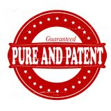 Pure and patent. Stamp with words pure and patent inside,  illustration Royalty Free Stock Photo