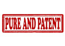 Pure and patent. Stamp with words pure and patent inside,  illustration Royalty Free Stock Photography