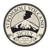 Stamp with words Stromboli Volcano, Sicily. Vector illustration Stock Image