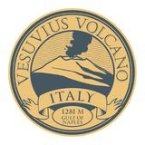 Stamp with words Vesuvius Volcano, Italy. Vector illustration Royalty Free Stock Image