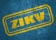 Stamp with ZIKV text over grunge background Stock Image