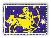 Stamp with Zodiac Royalty Free Stock Images