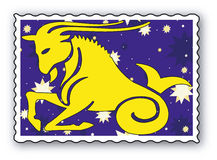 Stamp with Zodiac Royalty Free Stock Photos