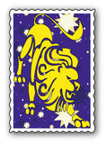 Stamp with Zodiac Royalty Free Stock Photography